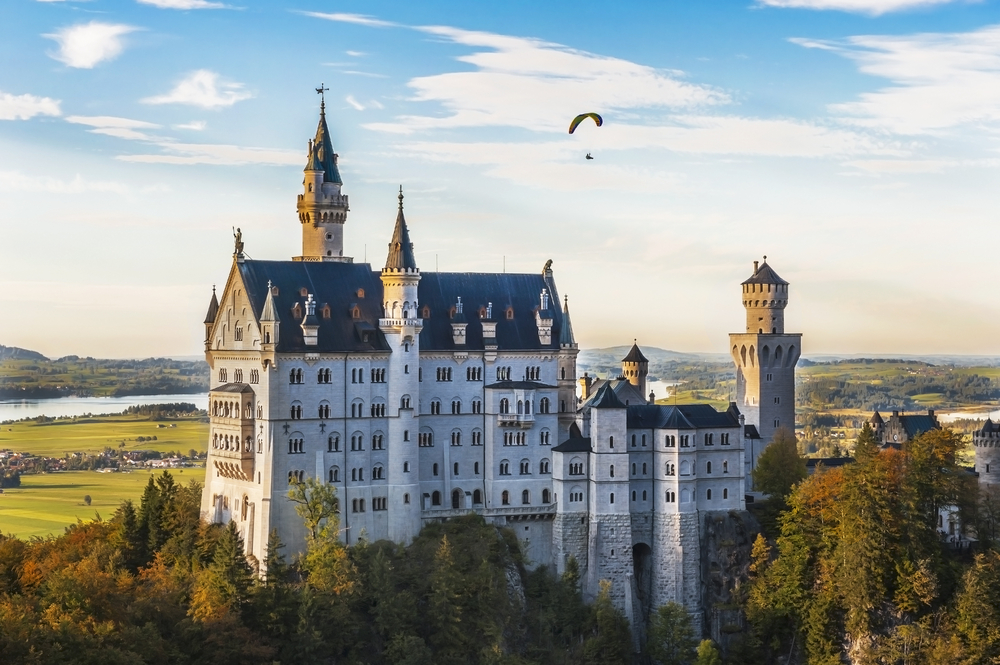 Paraglide over Neuschwanstein Castle, Germany