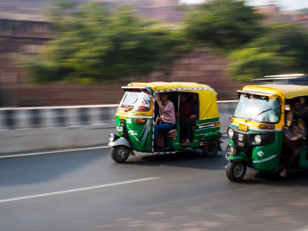 Race in a Rickshaw, India