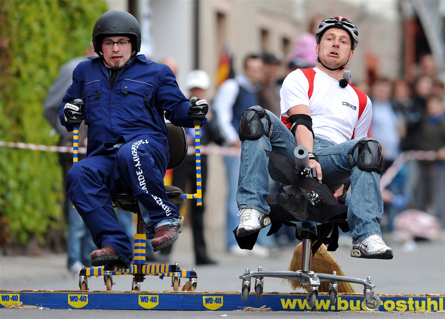 office chair race, germany