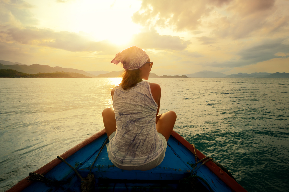 solo traveler on boat