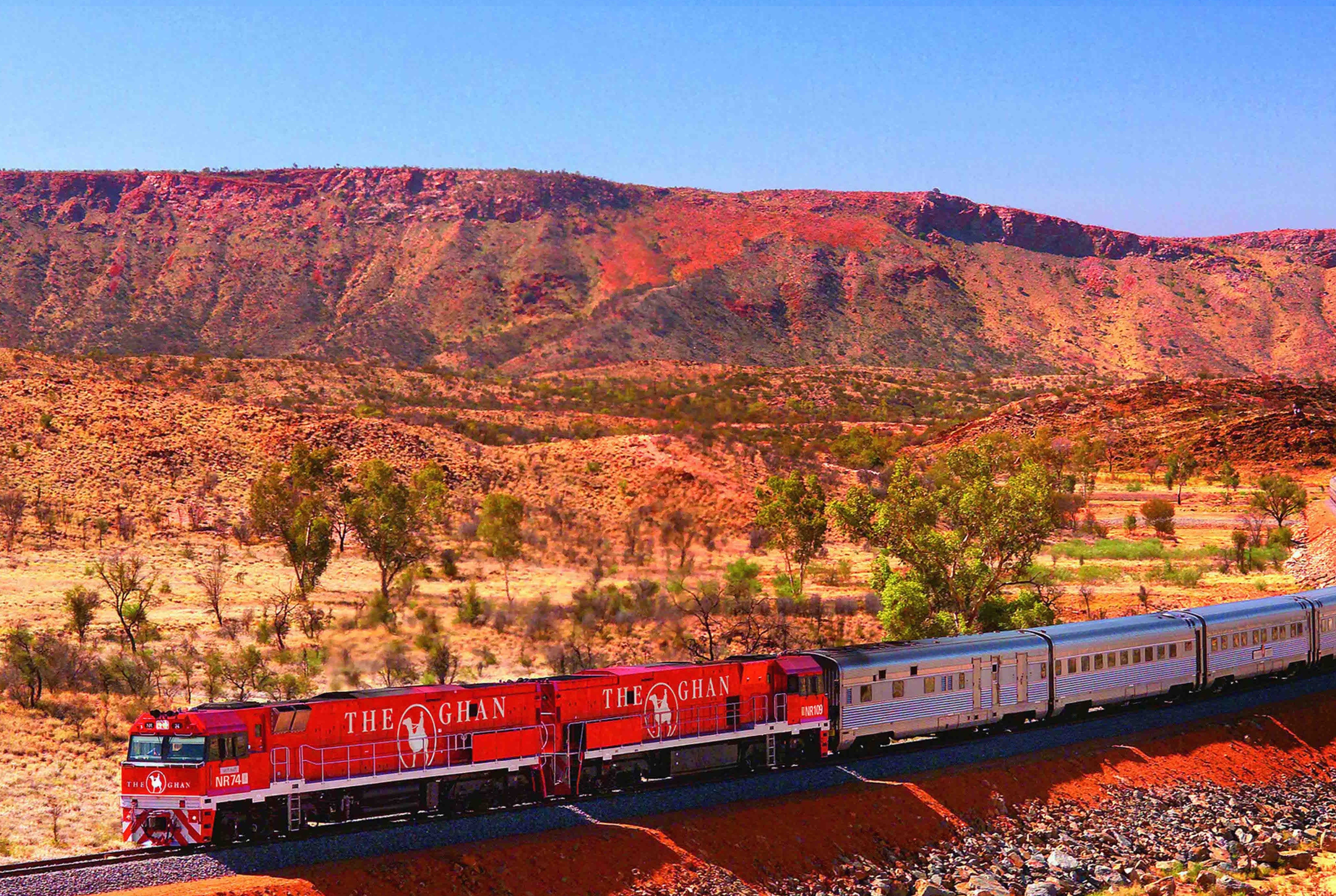 The Ghan from Darwin to Adelaide